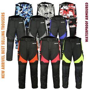 Hombres-Moto-Invierno-Cordura-Textil-Pantalones-Pantalones-Rodilla-Proteccion-CE-Blindado
