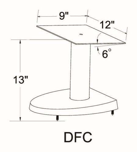"""Brand New,Free Shipping VTI DFC Series one single Center Speaker Stand 13/"""""""