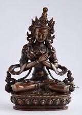 """Hand Carved Tibetan Buddhist 5.5"""" Vajradhara Buddha Statue from Patan, Nepal"""