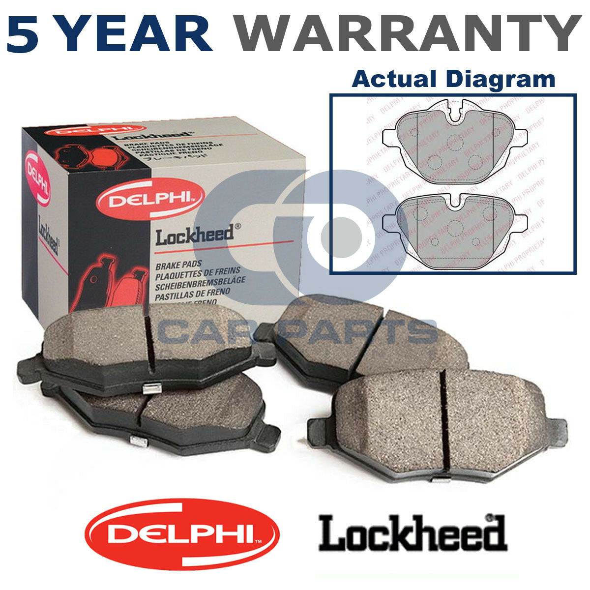 Set of Front Delphi Brake Pads For BMW 5 Series E39 X3 E83 X5 E53 4.4 3.0 LP1003