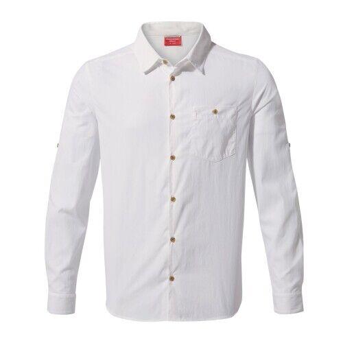 Craghoppers Nosilife NuGold Langarm Hemd optic Weiß Herren Weiß
