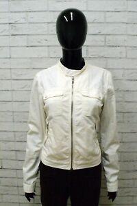Giacca-DIESEL-Donna-Taglia-Size-S-Jacket-Woman-Giubbotto-Jacket-Elastico-Bianco
