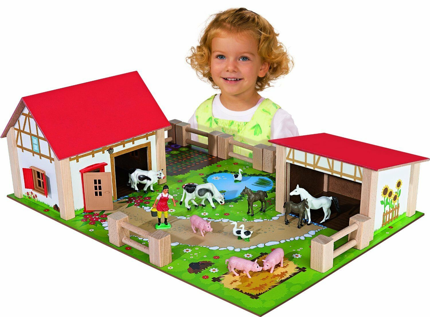 Toy Farm wood with Accessories 25 pieces Educational Educational Educational Fun Novelty d7252c