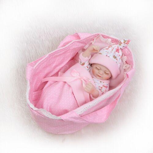 "Pinky Girl Reborn 10/"" 26cm Lifelike Baby Doll Vinyl Silicone Full Body Dolls"