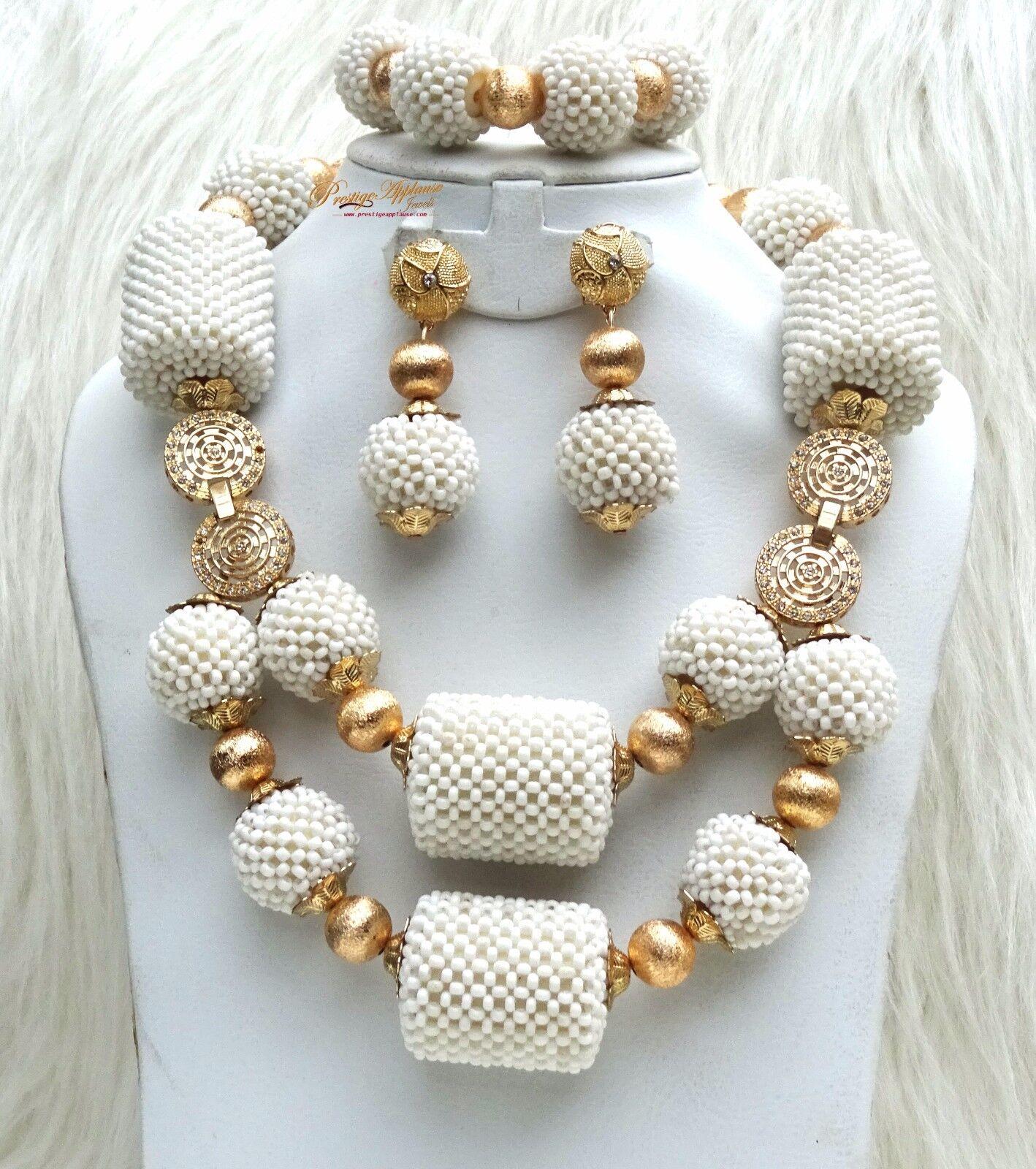 Ultimo design design design bianco da cerimonia PERLINE LAVORATA oro Balls Set Festa Nuziale 4f0f54