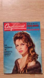 Vertraulichkeiten - Nr. 548 - 1958 - Die Vertrauen Der B.B Brigitte Bardot
