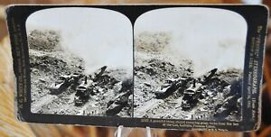 Antique-Stereograph-Card-The-Cut-Culebra-Panama-Canal-H-C-White-c-1907