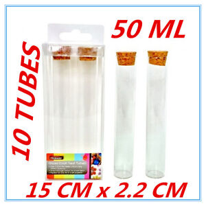 10 x large clear glass craft test tube cork top lid for Glass test tubes for crafts
