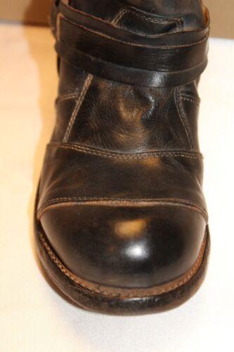 NEW NIB BED STU Black Rustic Distressed Leather LEXICON Moto Boots Sz 6
