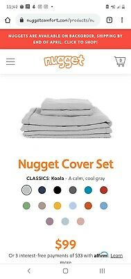 Koala Nugget Comfort Couch COVER | eBay