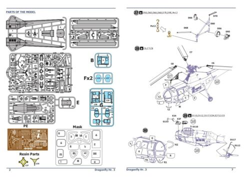 AMP 48004 Helicopter Westland WS-51 Dragonfly Hr.3 Rescue plastic model kit 1//48