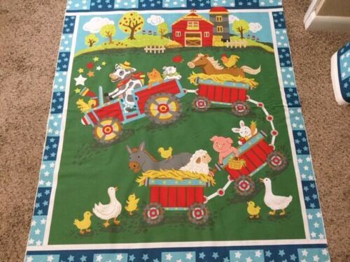 """MDG Fabric Tractor Buddies Panel 44/"""" New on Bolt   100/% Cotton"""