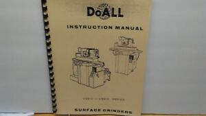 Cnc & Metalworking Supplies Impartial Doall Vs-612 & Vs-618 Surface Grinder Instruction Manual