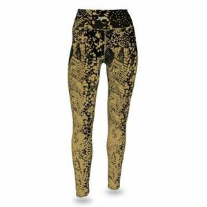 Football-nfl Zubaz Nfl Women's Zubaz New Orleans Saints Logo Leggings Evident Effect