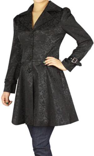 Black NEW Stitched Jacquard Gothic Corset Steampunk Jacket XS SM LG XL