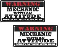 """2 - 3"""" Mechanic Worker Warning Tools Auto Motorcycle Decal Hard Hat Sticker WS1"""