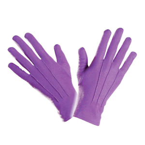 Purple Gloves Adult Clown Fancy Dress Short Halloween Gentleman