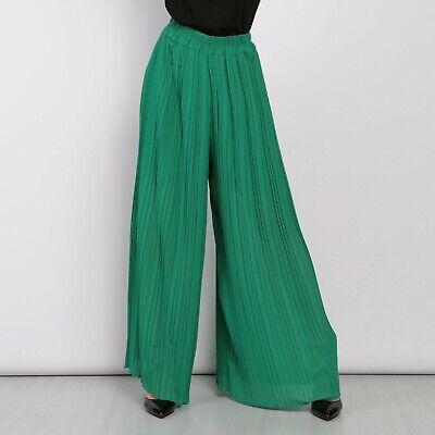 Pantaloni larghi a palazzo plissettati Donna cropped