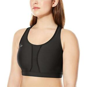 Champion-Women-039-s-Plus-Size-Vented-Compression-Sports-Bra-Black-Size-X-Large-T