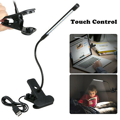 Adjustable USB LED Reading Studying Light Clip-on Clamp Bed Table Desk Lamp USA