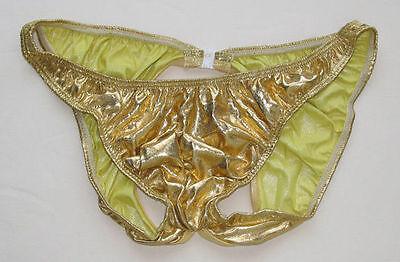 RF21 Hot Men Bikini Moonshine Underwear Metallic//Pleather