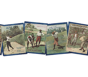 Image Is Loading The Masters Golf Vintage Style Poster Wallpaper Border