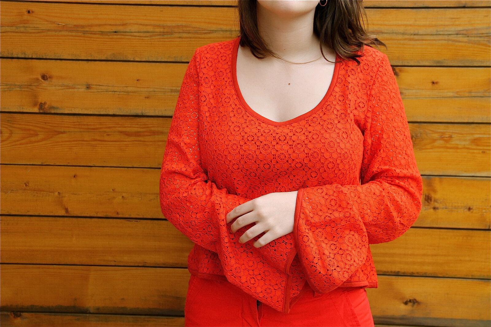 Pull crochet 100% modal KANABEACH margueritte size 38  valeur
