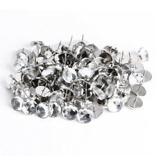 100 x 22MM Crystal Sofa Headboard Upholstery Nails Buttons Tacks N8S3