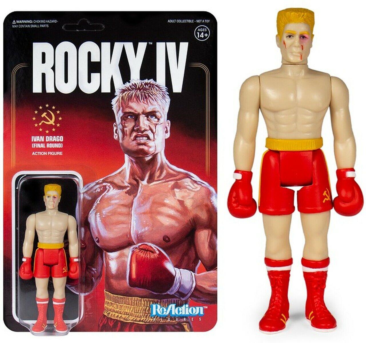 """Rocky IV Lot de 5 3.75/"""" RéAction Action Figures 16RSU01"""