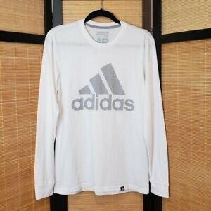 Adidas-Men-039-s-Sz-S-The-Go-To-Performance-Tee-White-Long-Sleeve-Tshirt-Climalite