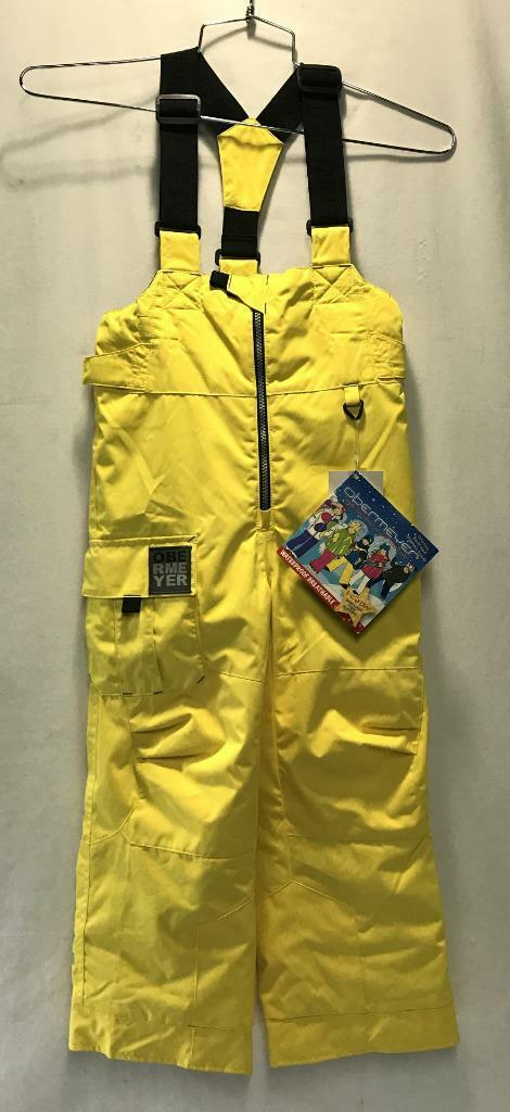 Obermeyer Boys Kids Volt Snow Ski Winter Bib Acid Yellow Kid Size 3 NEW