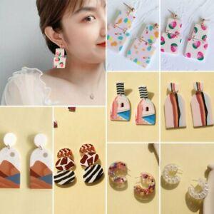 Women-039-s-Acrylic-Geometric-Oval-Round-Earrings-Drop-Dangle-Jewelry-Gifts-Fashion