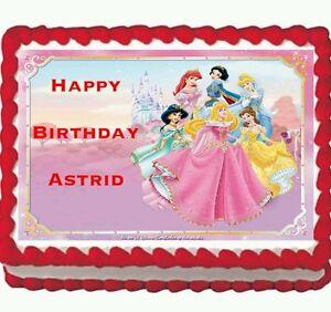 Disney Princess Cinderella Birthday Party Edible Icing Cake Topper 1