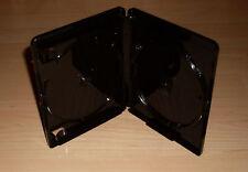 3 Blu Ray Hüllen Zweifach 2fach Schwarz 4K Ultra HD Logo 15mm f. 2 Blu Rays Neu