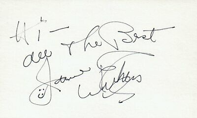 Movies Jane Withers Actress Singer Tv Movie Autographed Signed Index Card
