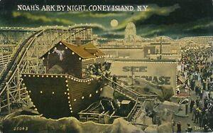 BROOKLYN-NY-Coney-Island-Noah-039-s-Ark-By-Night