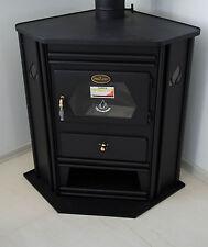Wood Burning Stove Corner Model Fireplace Solid Fuel Log Burner PROMETEY 8kw