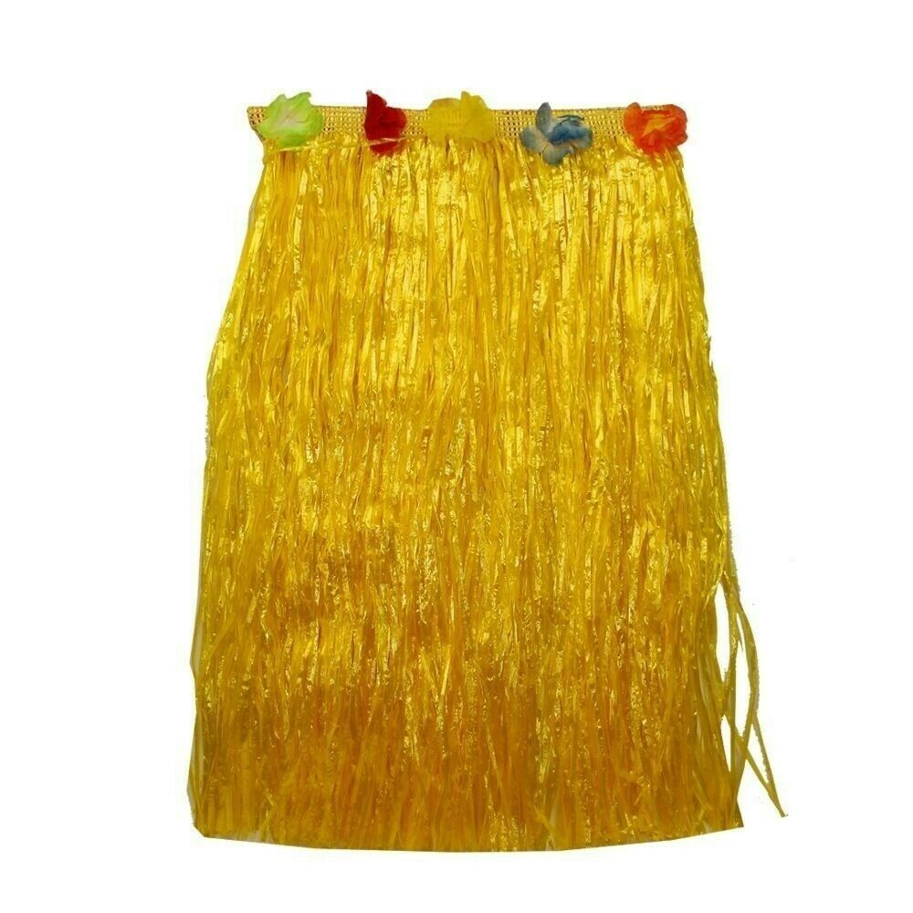 60cm Yellow Medium Hawaiian Hula Skirt Flower Theming