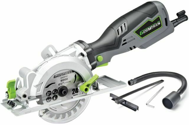 Genesis GCS545C 5.8 Amp 120 Volt 4-1/2 In. Control Grip Compact Circular Saw  for sale online | eBay