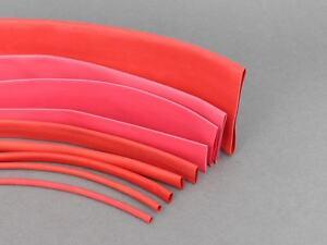 Various-Sizes-amp-Lengths-Red-Heat-Shrink-Tube-Sleeving-Car-Wire-Wrap-Heatshrink