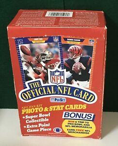 1989-Pro-Set-series-1-Premier-Football-box-contains-36pks-Rice-Montana-Fresh