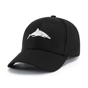 Details about Unisex Baseball Cap Shark Embroidery Washed Snapback Hat  Hip-Hop Adjustable New 496b80714152