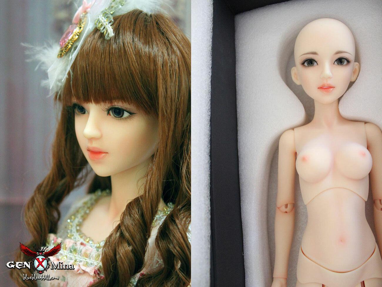 Original 1 3 bjd girl bare doll GEN X Mina FREE face up & body Blaushing shipUS