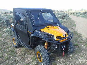 Image is loading Can-Am-Commander-Cab-Enclosure-with-Tip-out- & Can-Am Commander Cab Enclosure with Tip out Windshield \u0026 Doors | eBay