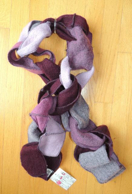 Womens Girls Platania Purple Loop Wool Scarf Wrap Hoodie Cowl