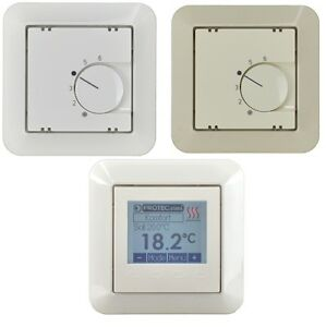 merten thermostat temperaturregler raumtemperaturregler fu bodenheizung regler ebay. Black Bedroom Furniture Sets. Home Design Ideas
