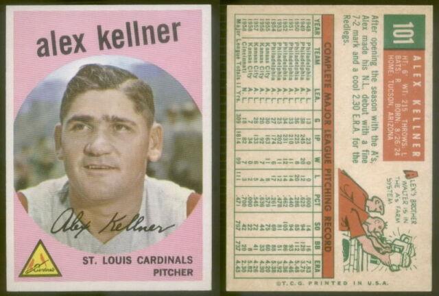 (8459) 1959 Topps 101 Alex Kellner Cardinals-EX