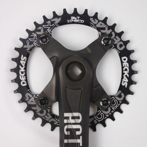 104BCD 170mm Crank MTB Bike 32-52T Round Oval Single Chainring Crankset Sprocket
