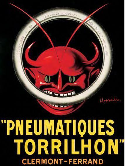 Leonetto Cappiello  Pneumatique Torrilhon Keilrahmen-Bild Leinwand  Vintage