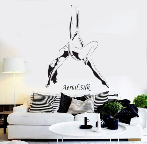Vinyl Wall Decal Aerial Silk Girl Woman Acrobatics Stickers Mural ig4589
